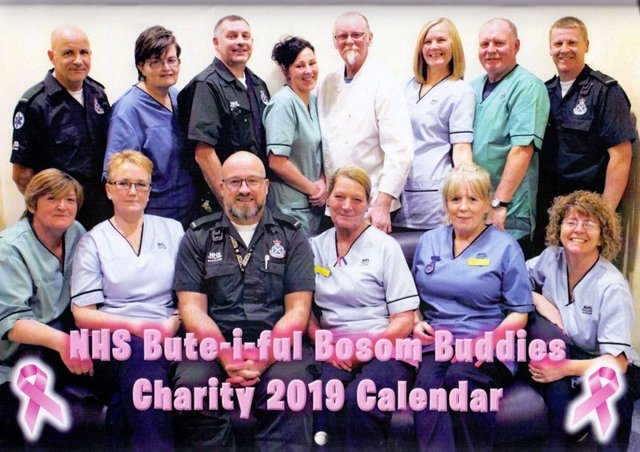 Staff at Victoria Hospital in Rothesay have had their photo taken for a charity calendar.