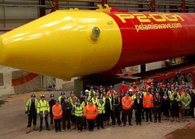 Pelamis - Leith Factory Wave technology.