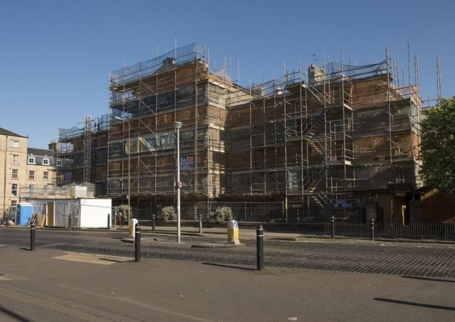 St Mary's Primary School on East London Street covered in scaffolding. Picture: Andrew O'Brien