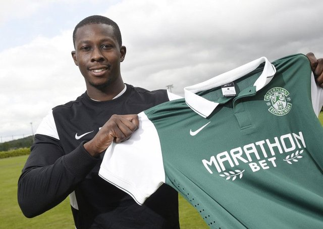 Hibs player Marvin Bartley.