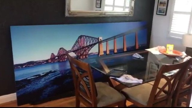 The huge picture of the Forth rail bridge bought by granddad Stuart Slicer