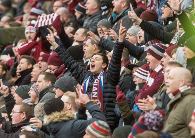 Tens of thousands of Hearts fans will head to Murrayfield today. Picture: Ian Georgeson/TSPL