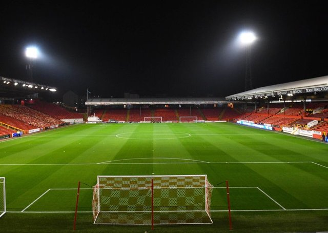 Hibs take on Aberdeen at Pittodrie. Picture: SNS/Ross Parker
