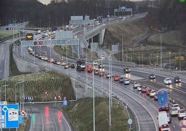 Drivers were stuck in traffic for up to two hours this morning. Picture: Traffic Scotland/Twitter