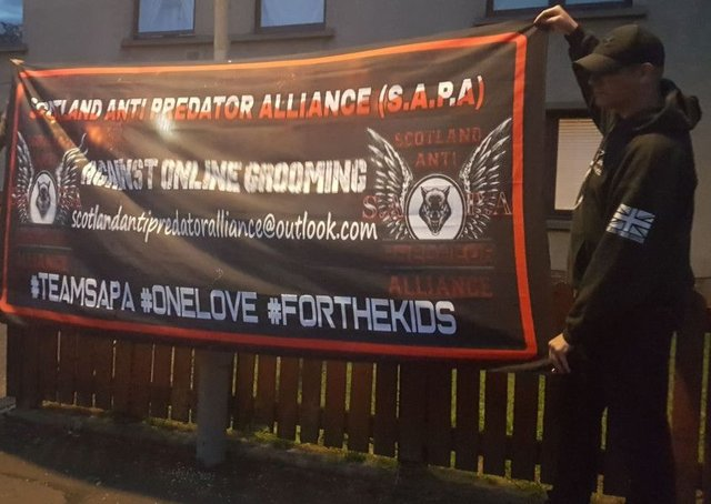The Scotland Anti-Predator Alliance was formed earlier this year and members have been involved in protests in Falkirk district