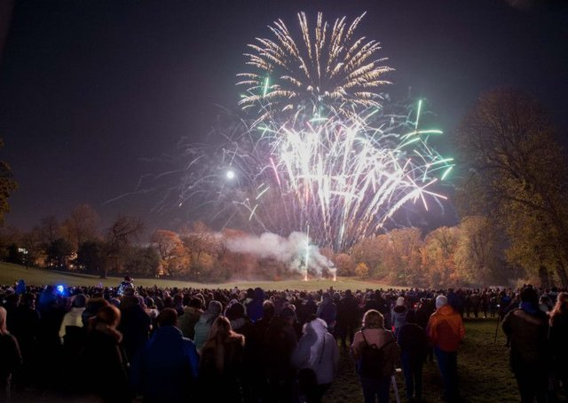 Falkirk districts annual fireworks display often attracts a large crowd