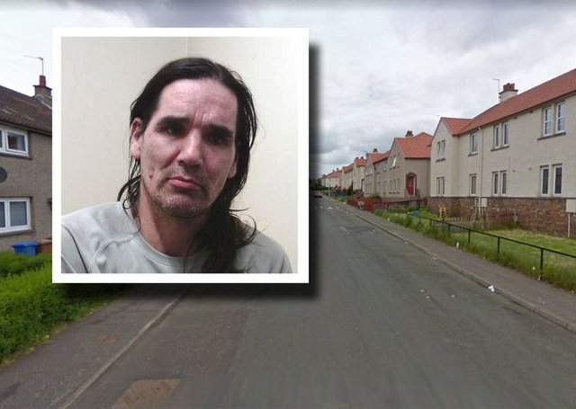 David MacBride, formerly of Westwood Avenue, was jailed. Picture: Police Scotland/Google