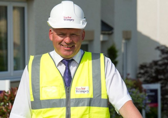 Allan Anderson, Site Manager at Taylor Wimpeys Greenlaw Mill development in Penicuik,Picture Copyright Chris Watt