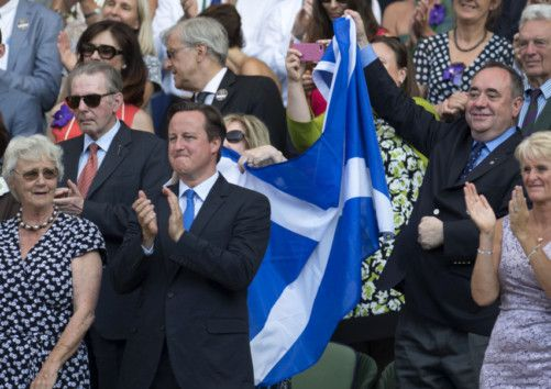 Andy Murray Wimbledon Alex Salmond Faces Flag Row The Scotsman