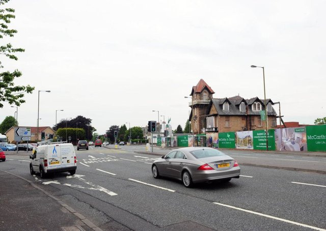 Queensferry Road in Edinburgh where NO2 air pollution is worsening. Picture: Ian Rutherford