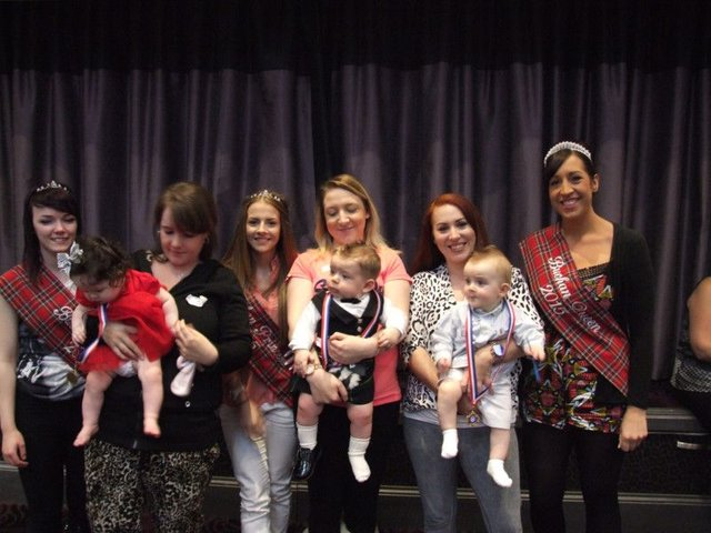 Mums and babies at this year's Scottish Week Baby Show.