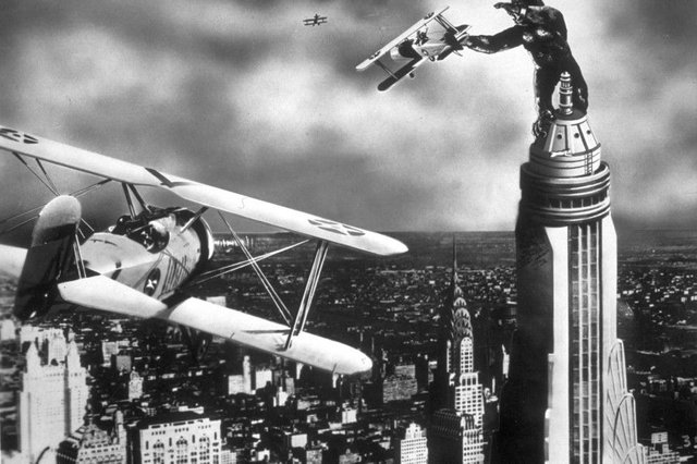 The film King Kong premiered in New York in 1933. Picture: Hulton Archive/Getty