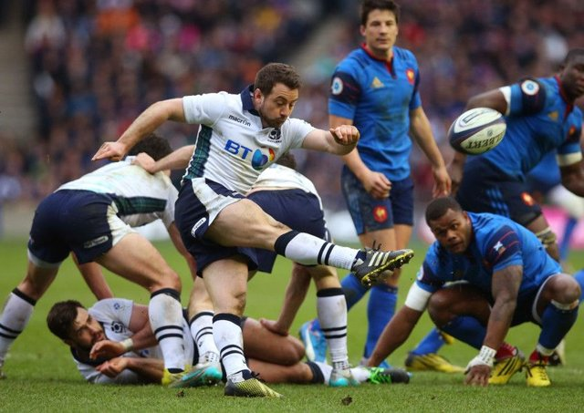 Greig Laidlaw in action against France.  Picture: Ian MacNicol/Getty Images