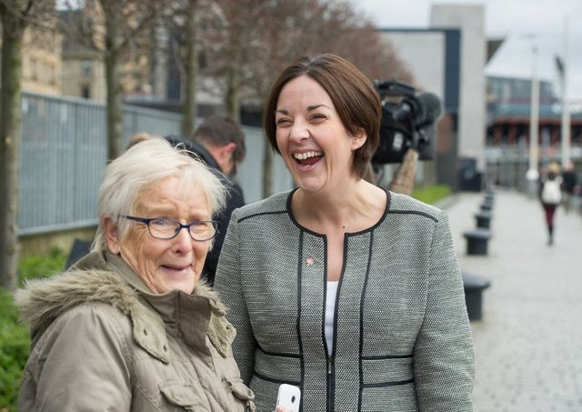 Labour leader Kezia Dugdale announced plans to top up pensions for women. Picture: John Devlin