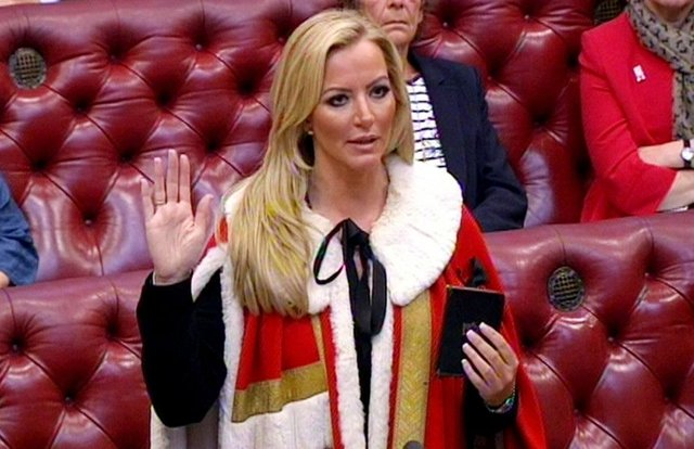 Entrepreneur Michelle Mone is admitted to the House of Lords as Baroness Mone of Mayfair in October. Picture: PA