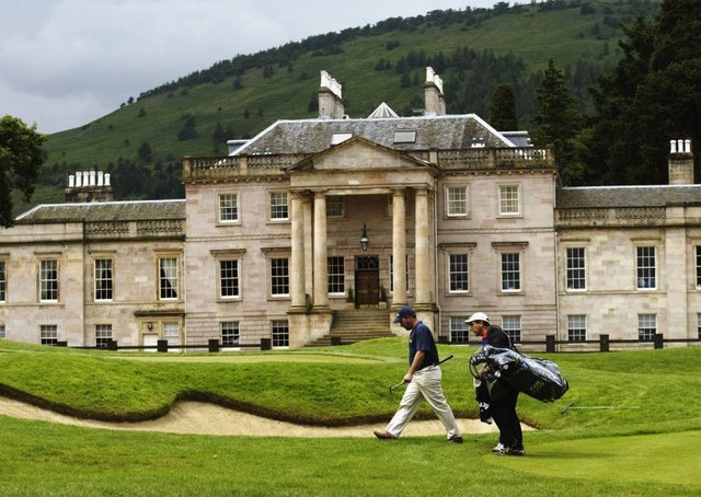 Rossdhu House is the opulent clubhouse at the Loch Lomond Golf Club, said to be the Augusta of Scotland. Picture: Getty