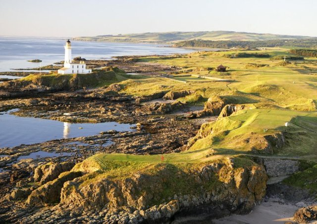 Guests can stay at the iconic lighthouse at Turnberry. Picture: Getty Images