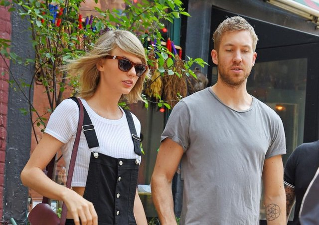 Taylor Swift and Calvin Harris.  Picture: Josiah Kamau/BuzzFoto via Getty Images