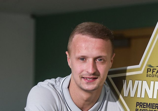 Leigh Griffiths was partnered up front by new Celtic signing Moussa Dembele. Picture: John Devlin