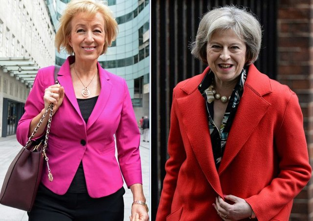 Andrea Leadsom, left, and Theresa May are battling it out to be leader of the Conservatives. Picture: AFP/Getty Images
