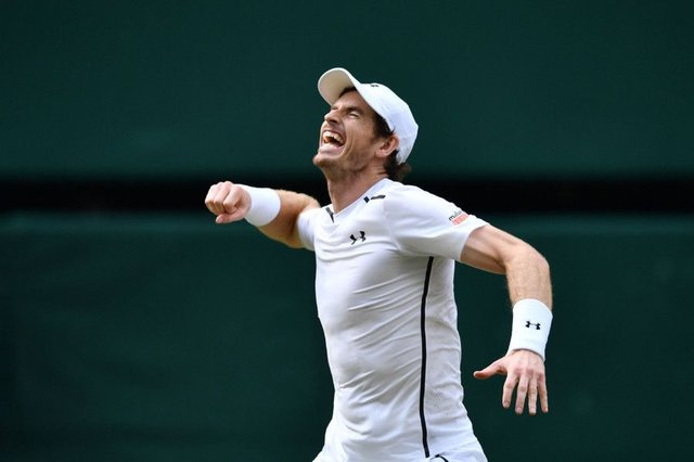Andy Murray celebrates claiming his second Wimbledon title, three years after becoming the first Briton  to win the event in 77 years. But he is a champion off the court as well, supporting equal rewards for female players and calling for a more robust anti-doping structure in tennis. Picture: AFP/Getty