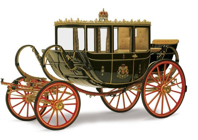 The Scottish State Coach will be displayed on the forecourt at the Palace of Holyroodhouse to mark the Queen's 90th birthday year. Picture: Royal Collection Trust © Her Majesty The Queen