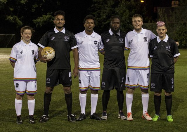 Players from more than 80 countries around the world have turned out for United Glasgow FC. Picture: Keir Laird