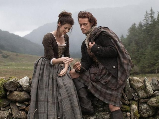Caitriona Balfe and Sam Heughan are in the running for BAFTA Scotland honours for Outlander