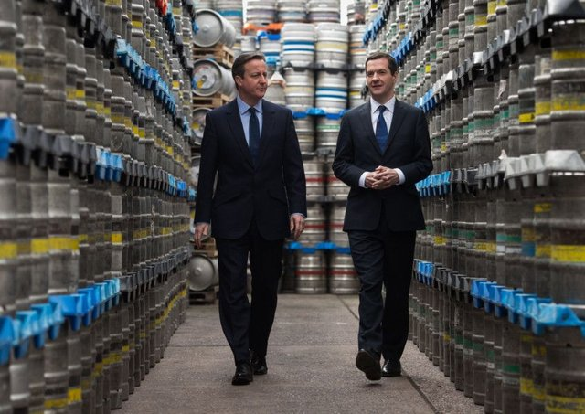 Former Prime Minister David Cameron and Chancellor George Osborne said repeatedly that if we voted to leave the EU we would leave the single market. Picture: Getty