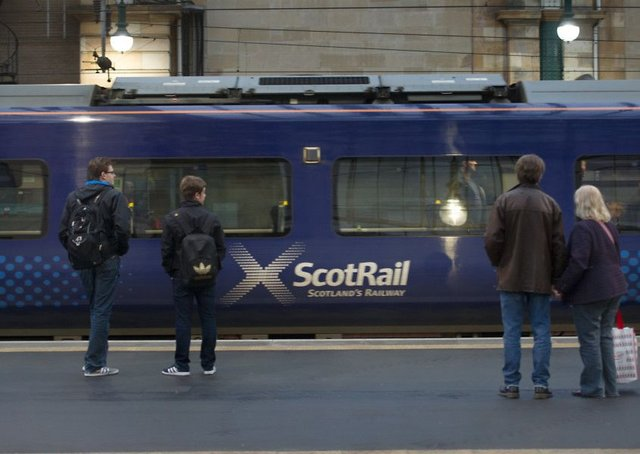 Train services between Glasgow and Edinburgh have been hit by rail disruption