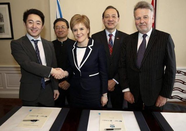 Nicola Sturgeon signed a memoradum of understanding) with Chinese firms in March. Picture: Contributed