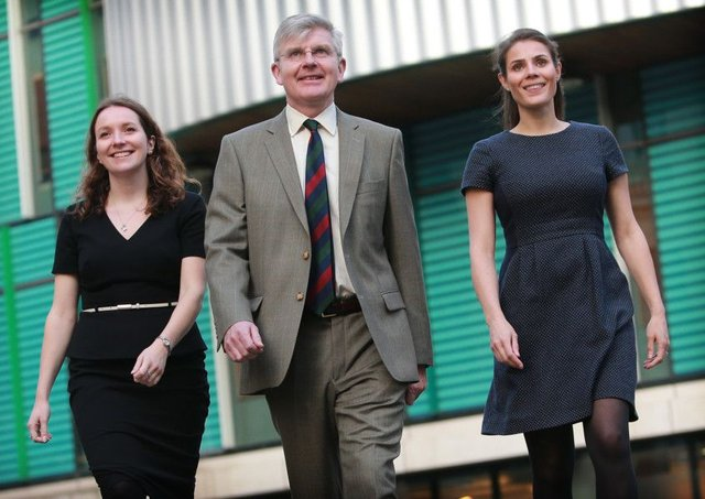 Anderson Strathern's Colin Henderson with Sarah Thurston, left, and Susie Stewart, who have recently been promoted at the law firm. Picture: Stewart Attwood