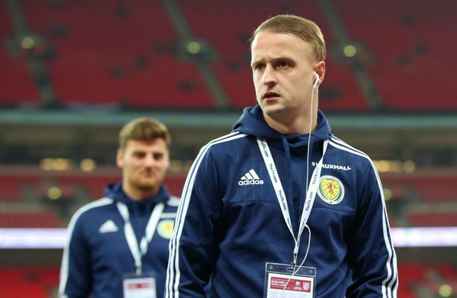 Leigh Griffiths started against England on Friday night. Picture: PA