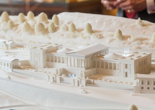 Model of the proposed music school at the former Royal High School, Edinburgh