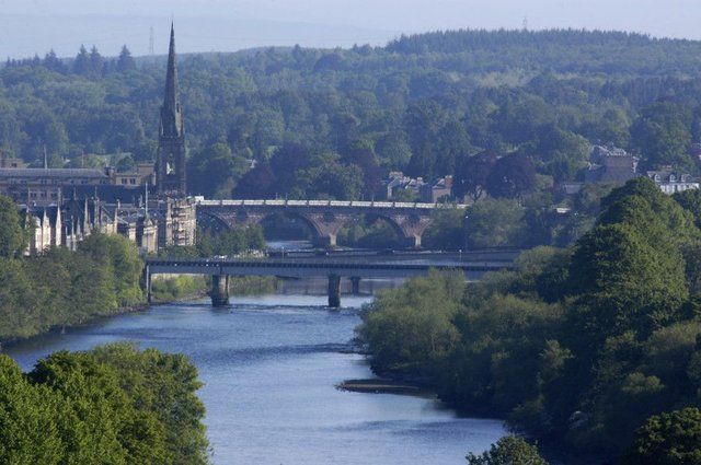 An additional road bridge across the Tay by Perth could ease traffic congestion in the city centre. Picture: Craig Stephen/TSPL
