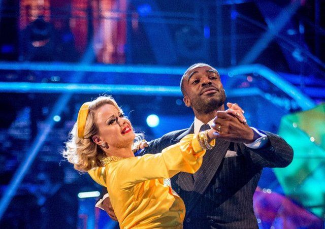 Ora Oduba and Joanna Clifton dancing to Strictly success
