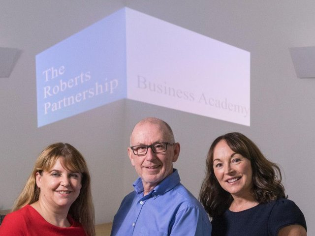 Left to right, project manager Sally Clark, founder Keith Jeffrey and trainer Michelle Brown. Picture: Contributed