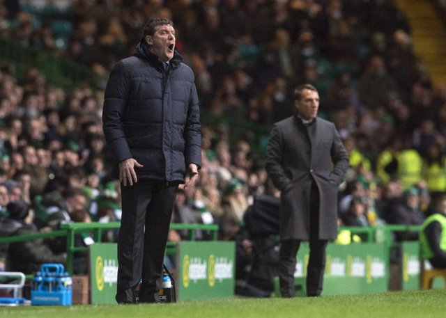 St Johnstone manager Tommy Wright thought his side deserved a penalty at Celtic Park. Picture: SNS