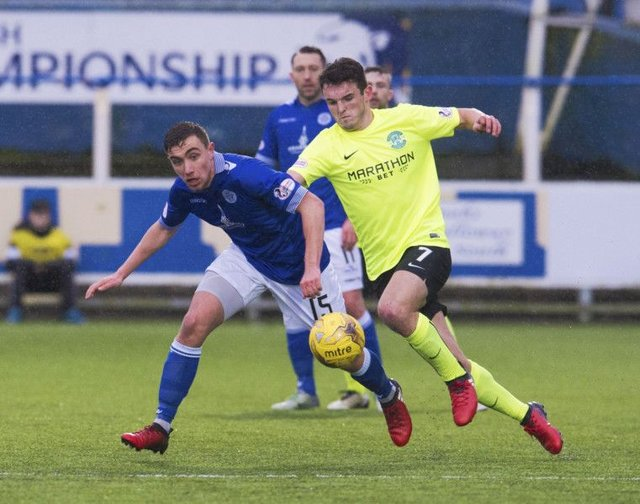 John McGinn netted the only goal in Hibs' success at Queen of the South. Picture: SNS/Craig Foy