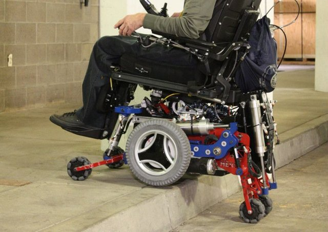 MEBot, a robotic-powered, six wheel wheelchair, was named best new concept. Picture: Contributed