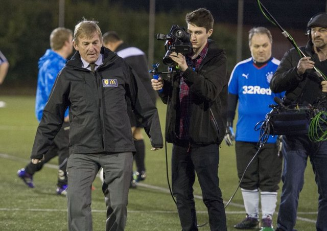 Celtic and Scotland legend Kenny Dalglish volunteered for the day at grassroots football club Stirling City All Stars to help launch the 2017 McDonald's Grassroots Awards. Picture: Ian Rutherford