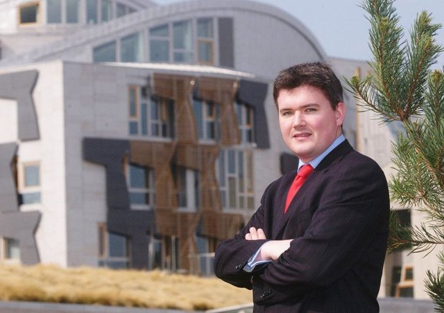 Duncan Hamilton photographed at the Scottish parliament in 2005. Picture: Colin Hattersley