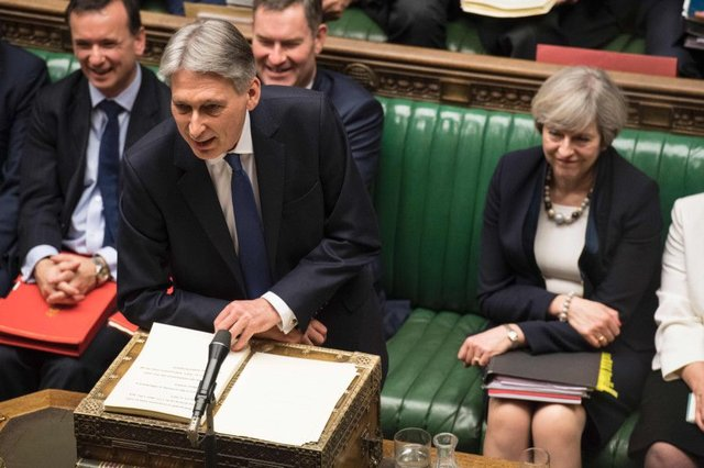 Philip Hammond delivers the Spring Budget. Picture: AFP/Getty Images