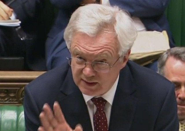 Brexit Secretary David Davis  mocked accusations that the upcoming general election was solely about capitalising on poor Labour polling. Picture: PA Wire