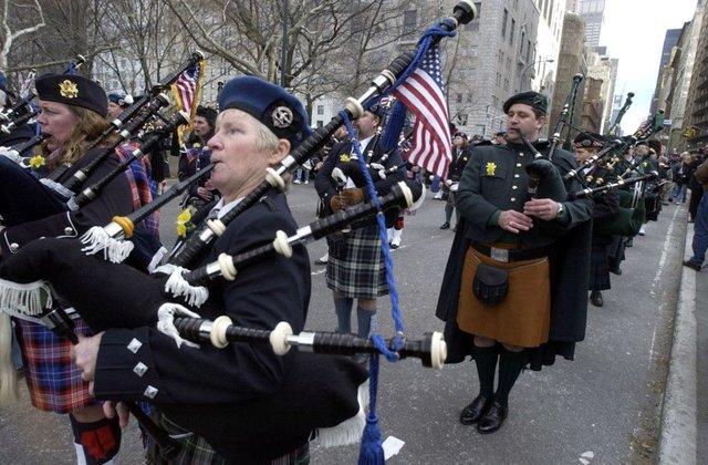 The Scottish diaspora is celebrated in the Tartan Day festivities in New York. Picture: Donald MacLeod