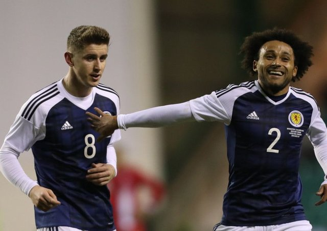 Tom Cairney, left, pictured alongside Ikechi Anya, impressed on his Scotland debut. Picture: Ian MacNicol/Getty Images