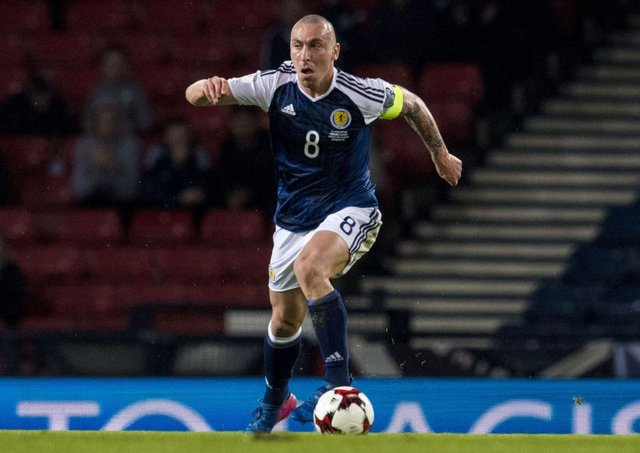 Scott Brown captained Scotland in the 1-0 win over Slovenia on Sunday. Picture: Alan Harvey/SNS