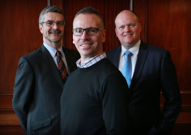 From left: David Grahame of LINC Scotland, Steve Ewing of Informatics Ventures and Bob Hair of Cazenove Capital Management. Picture: Stewart Attwood
