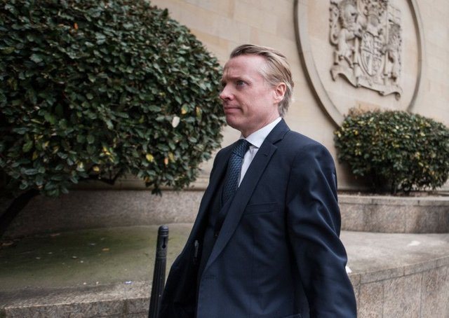 Former Rangers owner Craig Whyte arrives at the High Court in Glasgow.