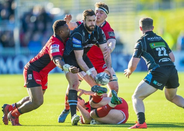 Glasgow Warriors take on Edinburgh in the Pro12. Picture: Bill Murray/SNS
